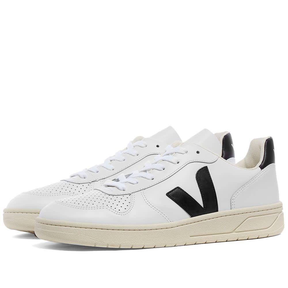 ヴェジャ Veja メンズ スニーカー シューズ・靴【V-10 Leather Basketball Sneaker】White/Black