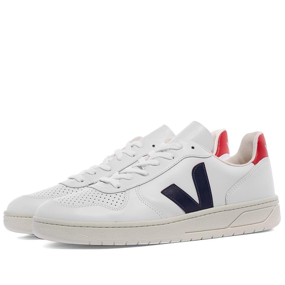 ヴェジャ Veja メンズ スニーカー シューズ・靴【V-10 Leather Basketball Sneaker】White/Red/Blue