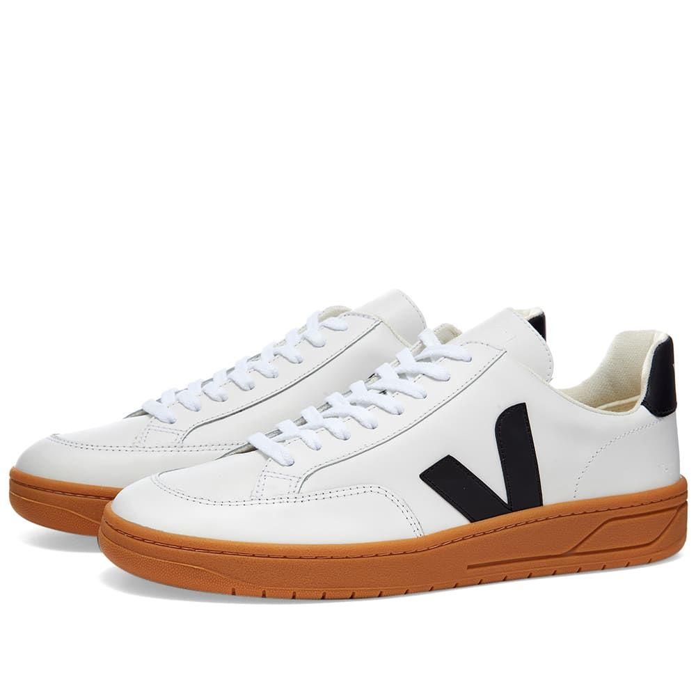 ヴェジャ Veja メンズ スニーカー シューズ・靴【V-12 Leather Sneaker】White/Black/Gum