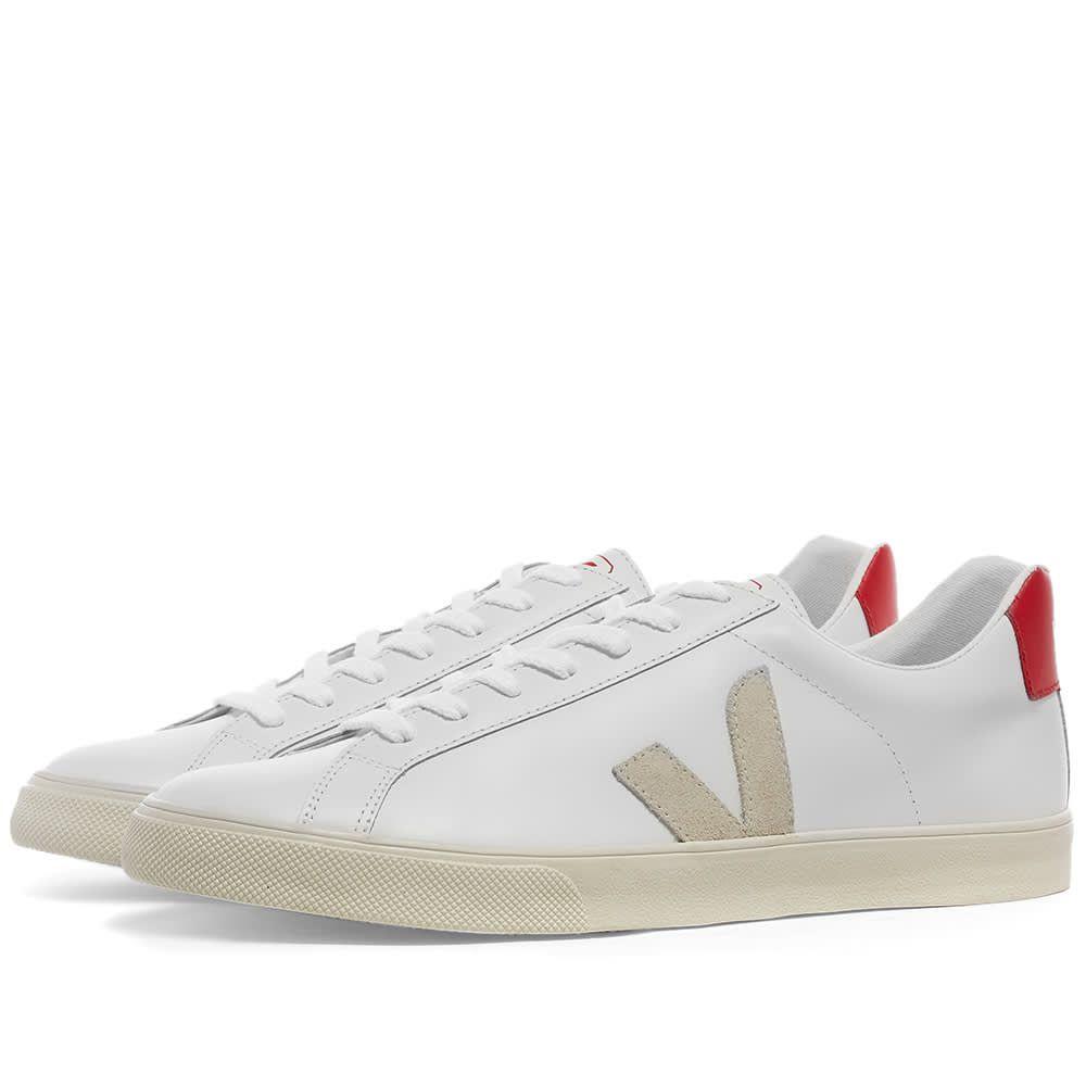 ヴェジャ Veja メンズ スニーカー シューズ・靴【Esplar Clean Leather Sneaker】White/Red