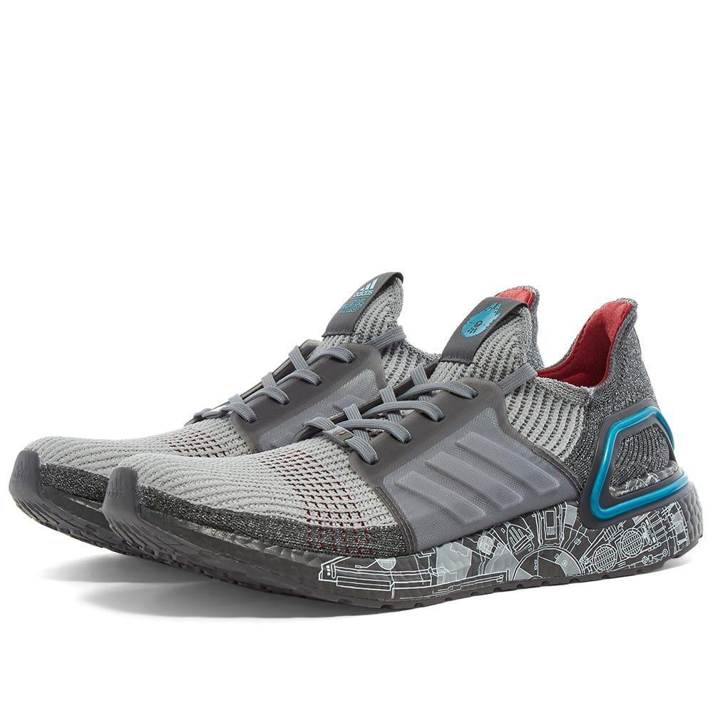 アディダス Adidas メンズ スニーカー シューズ・靴【x Star Wars Ultraboost 19】Grey/Bright Cyan
