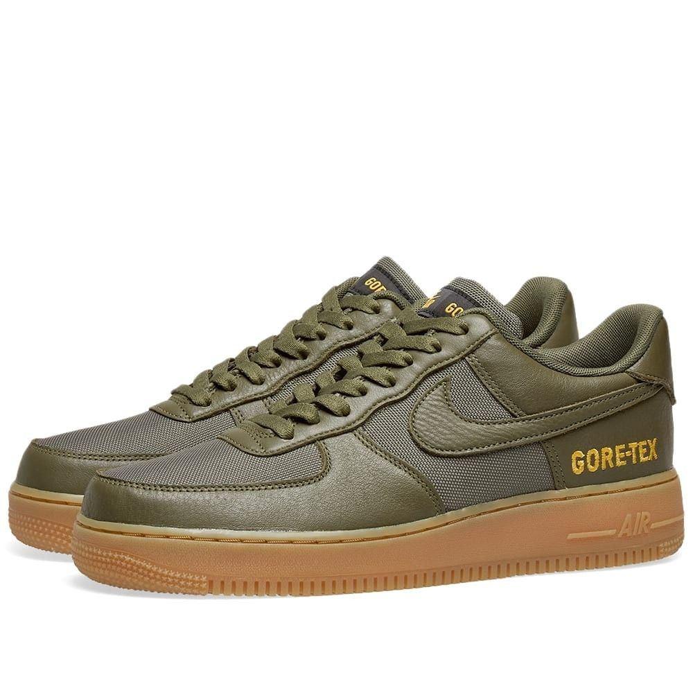 ナイキ Nike メンズ スニーカー エアフォースワン シューズ・靴【Air Force 1 GTX】Olive/Sequoia/Gold/Black