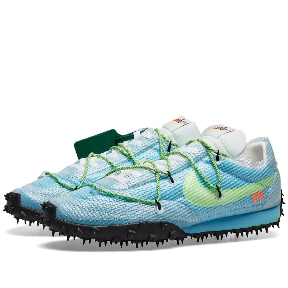 ナイキ Nike メンズ スニーカー シューズ・靴【x Off-White Waffle Racer】Vivid Sky/Electric Green
