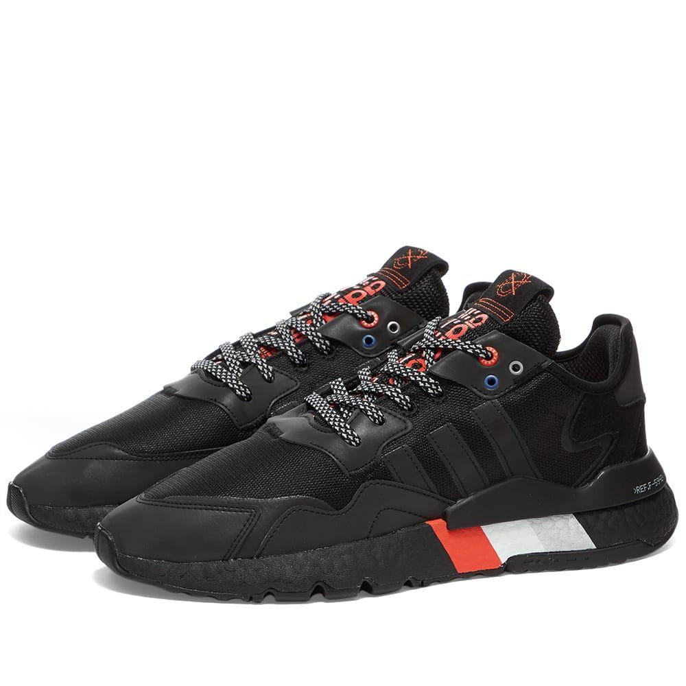 アディダス Adidas メンズ スニーカー シューズ・靴【Nite Jogger】Black/Metallic Silver