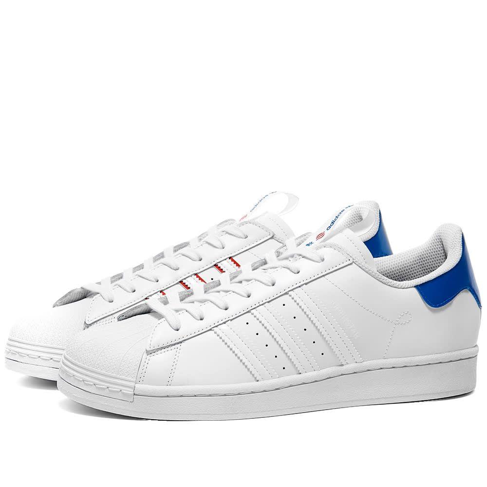 アディダス Adidas メンズ スニーカー シューズ・靴【Superstar】White/Glory Blue