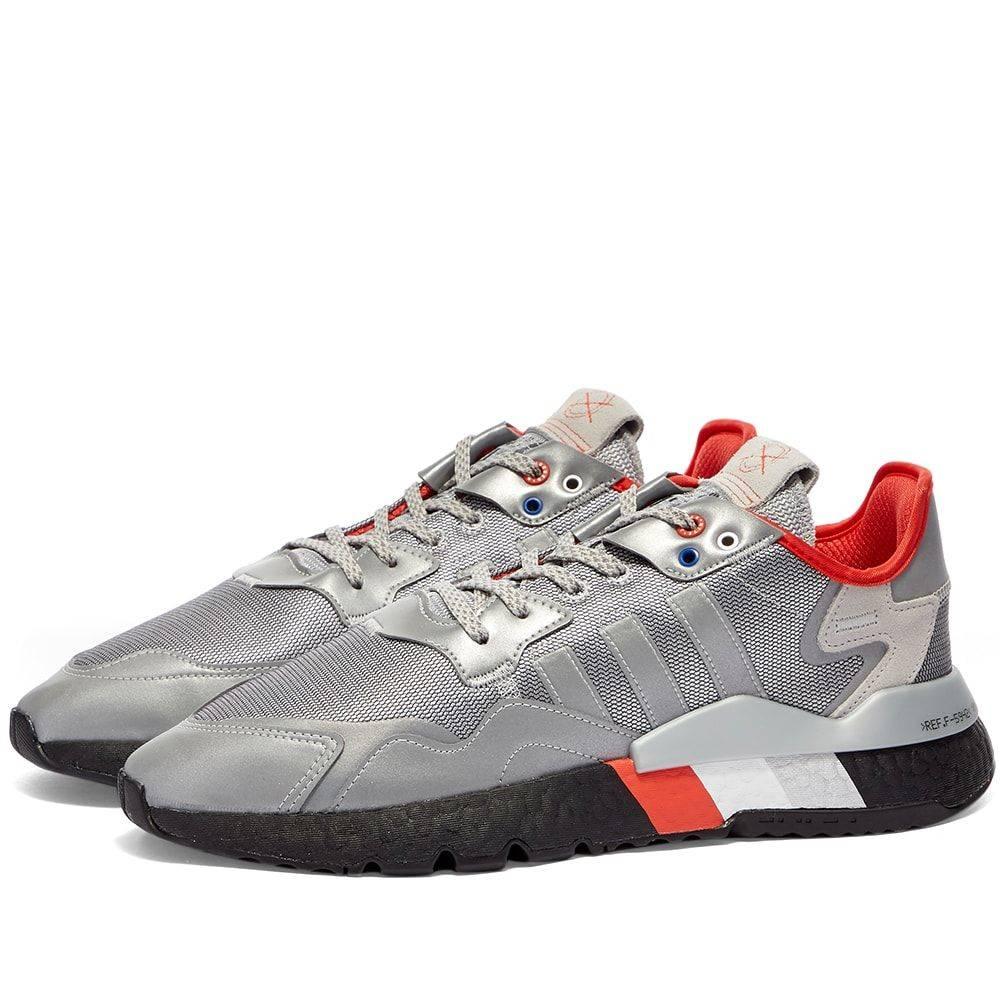 アディダス Adidas メンズ スニーカー シューズ・靴【Nite Jogger】Metallic Silver/Black