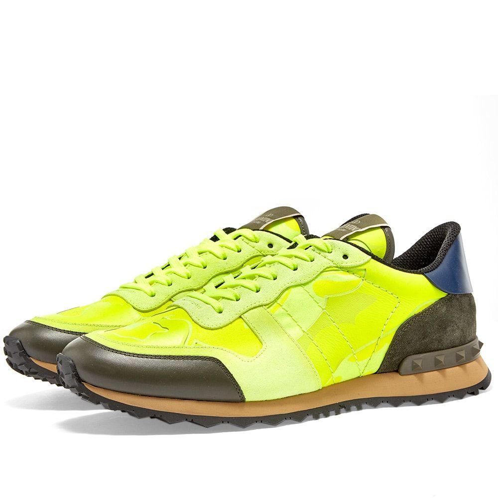 ヴァレンティノ Valentino メンズ スニーカー シューズ・靴【Rockrunner Sneaker】Fluro Green/Army