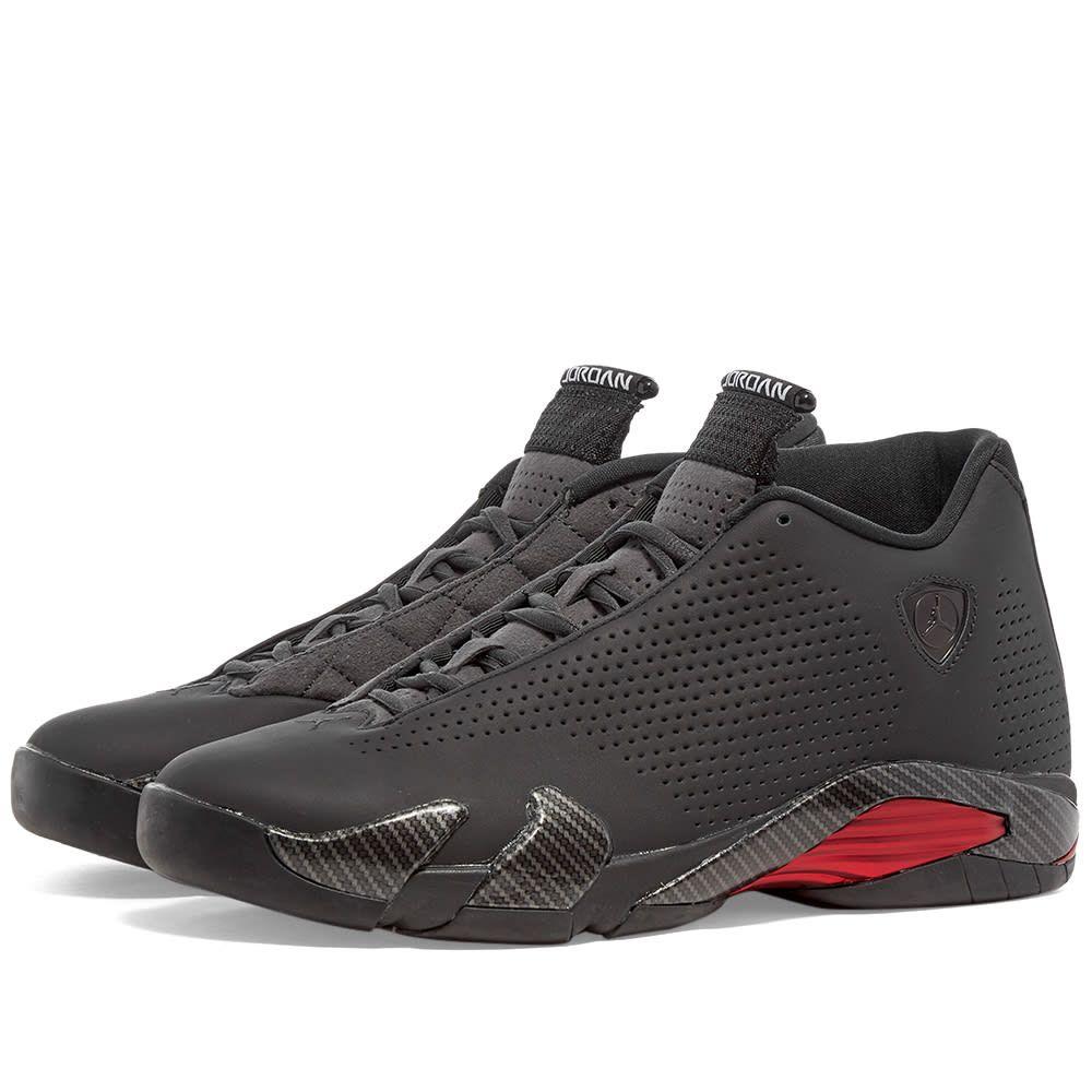ナイキ ジョーダン Nike Jordan メンズ スニーカー シューズ・靴【Air Jordan 14 Retro】Black/Anthracite/Red