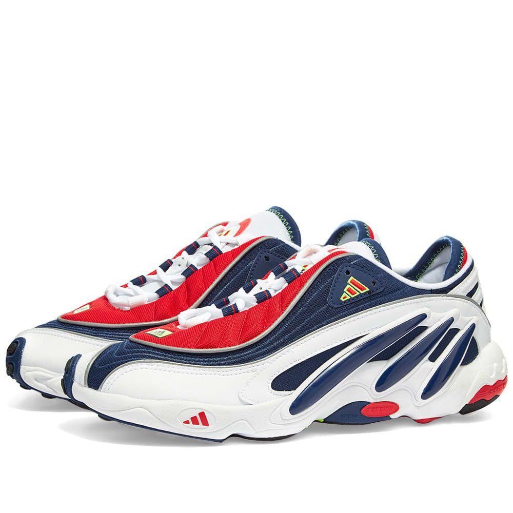 アディダス Adidas メンズ スニーカー シューズ・靴【FYW 98】White/Blue/Yellow