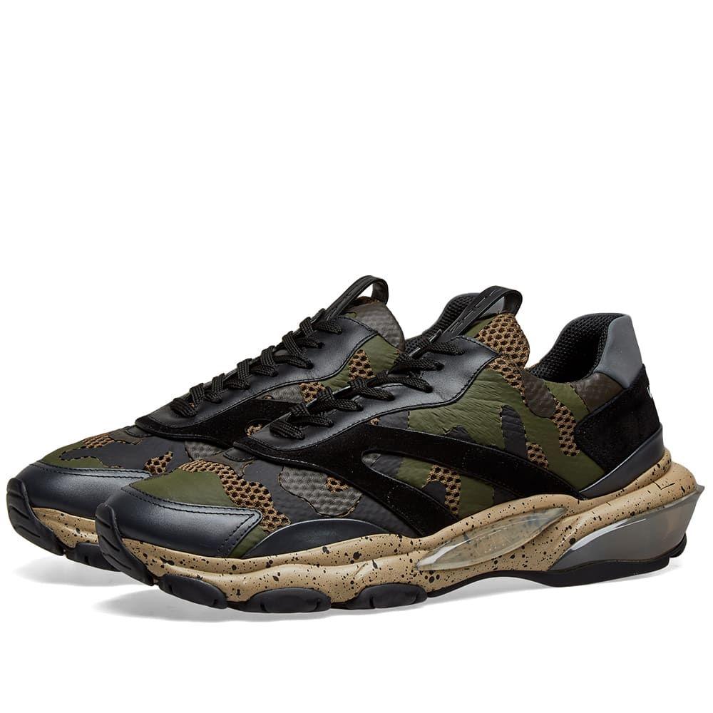 ヴァレンティノ Valentino メンズ スニーカー シューズ・靴【Camo Bounce Sneaker】Army Camo/Beige Sole