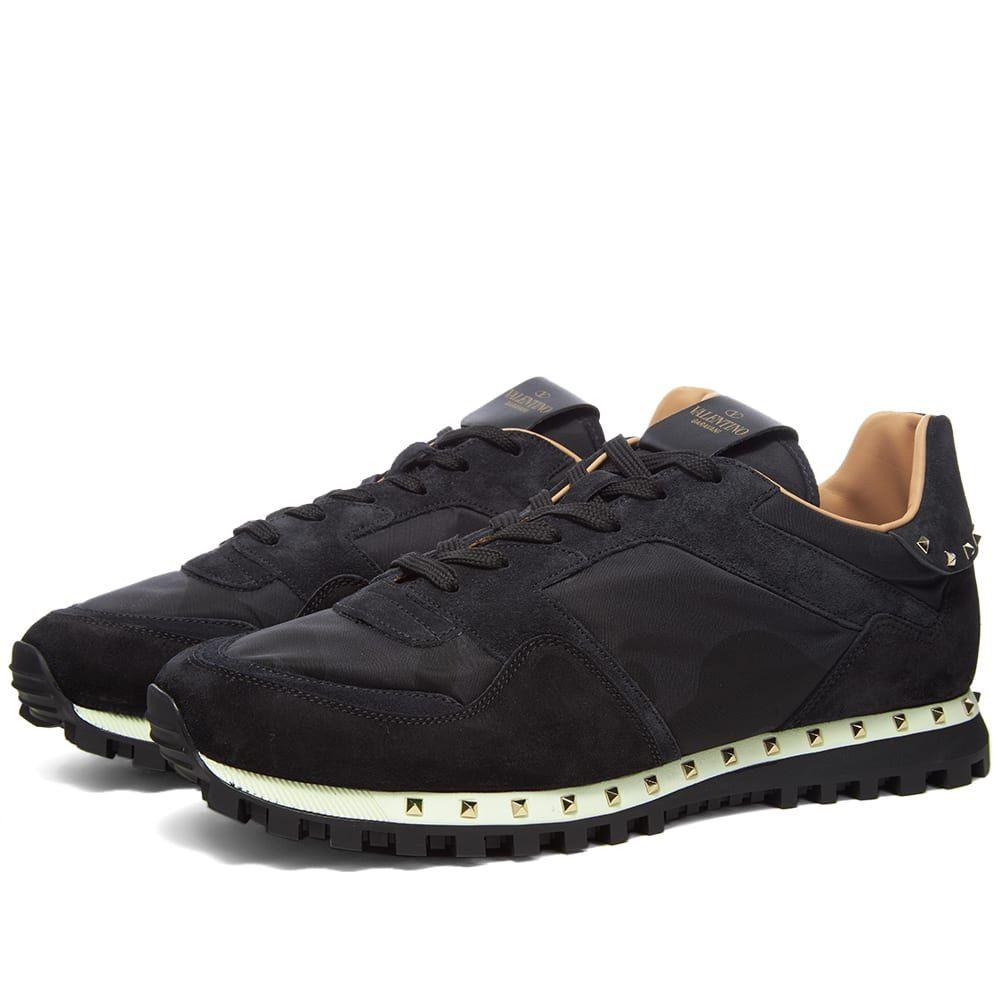 ヴァレンティノ Valentino メンズ スニーカー シューズ・靴【Stud Sole Rockrunner Sneaker】Black