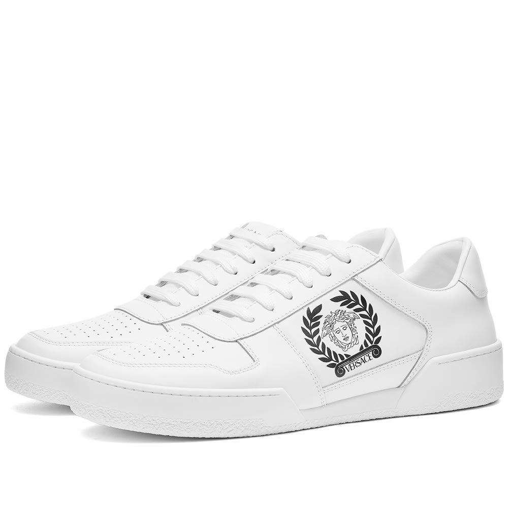 ヴェルサーチ Versace メンズ スニーカー メデューサ シューズ・靴【Medusa Tennis Sneaker】White/Black