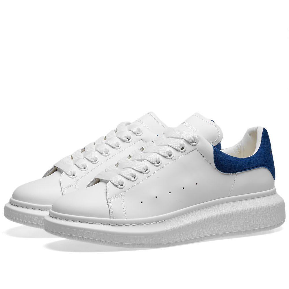 アレキサンダー マックイーン Alexander McQueen メンズ スニーカー ウェッジソール シューズ・靴【Heel Tab Wedge Sole Sneaker】White/Navy
