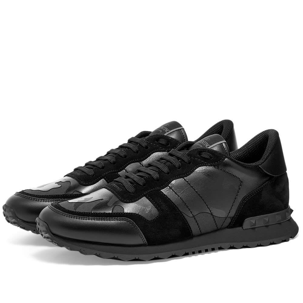 ヴァレンティノ Valentino メンズ スニーカー シューズ・靴【Rockrunner Sneaker】Metallic Black Camo