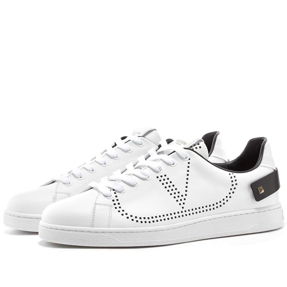ヴァレンティノ Valentino メンズ スニーカー シューズ・靴【Net Go Logo Sneaker】White/Black