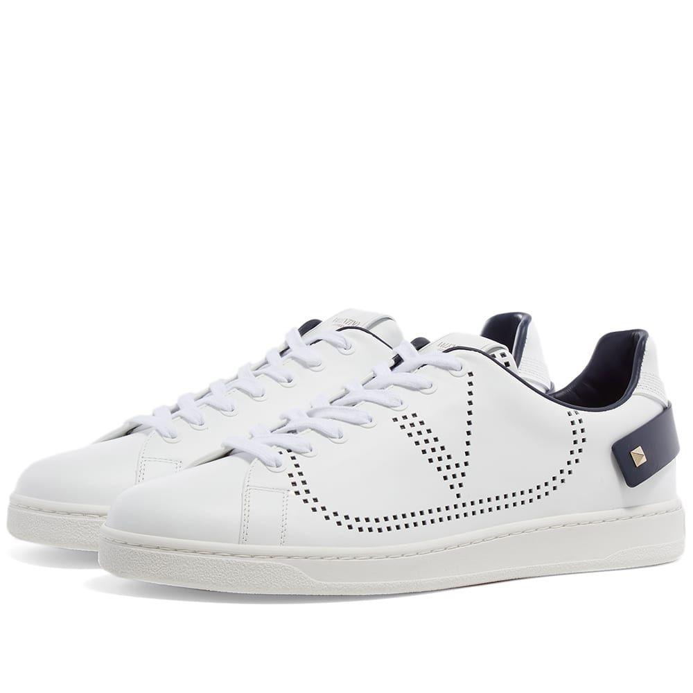 ヴァレンティノ Valentino メンズ スニーカー シューズ・靴【Net Go Logo Sneaker】White/Navy