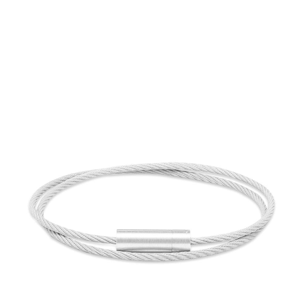 ルグラム Le Gramme メンズ ブレスレット ジュエリー・アクセサリー【Brushed Double Cable Bracelet】Silver 9g