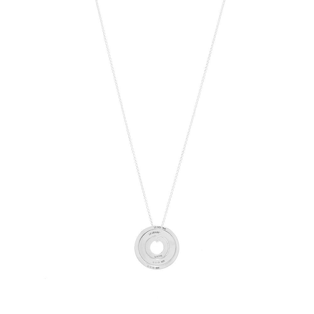 ルグラム Le Gramme メンズ ネックレス ジュエリー・アクセサリー【Circle Accumulation Slick Pendant Necklace】Silver
