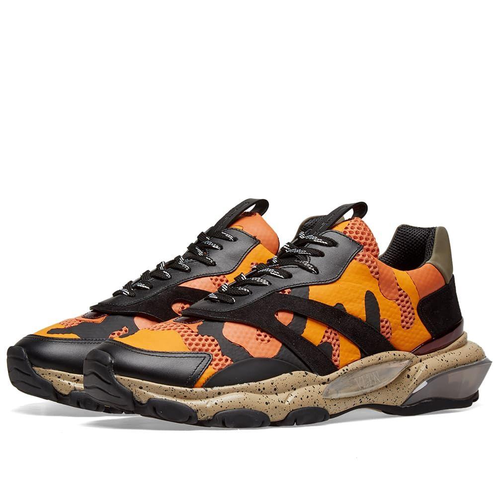 ヴァレンティノ Valentino メンズ スニーカー シューズ・靴【Camo Overlayed Bounce Sneaker】Orange/Black/Desert Sand
