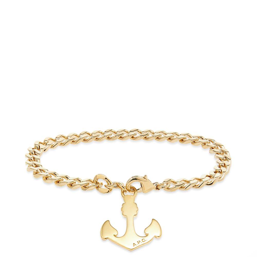 アーペーセー A.P.C. メンズ ブレスレット ジュエリー・アクセサリー【Marine Anchor Bracelet】Gold