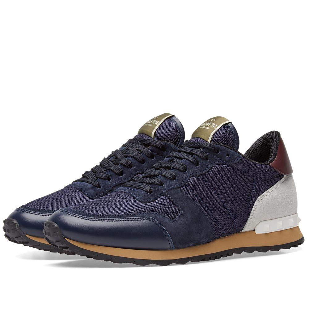 ヴァレンティノ Valentino メンズ スニーカー シューズ・靴【Rockrunner Sneaker】Night/Marine/Off White Mesh