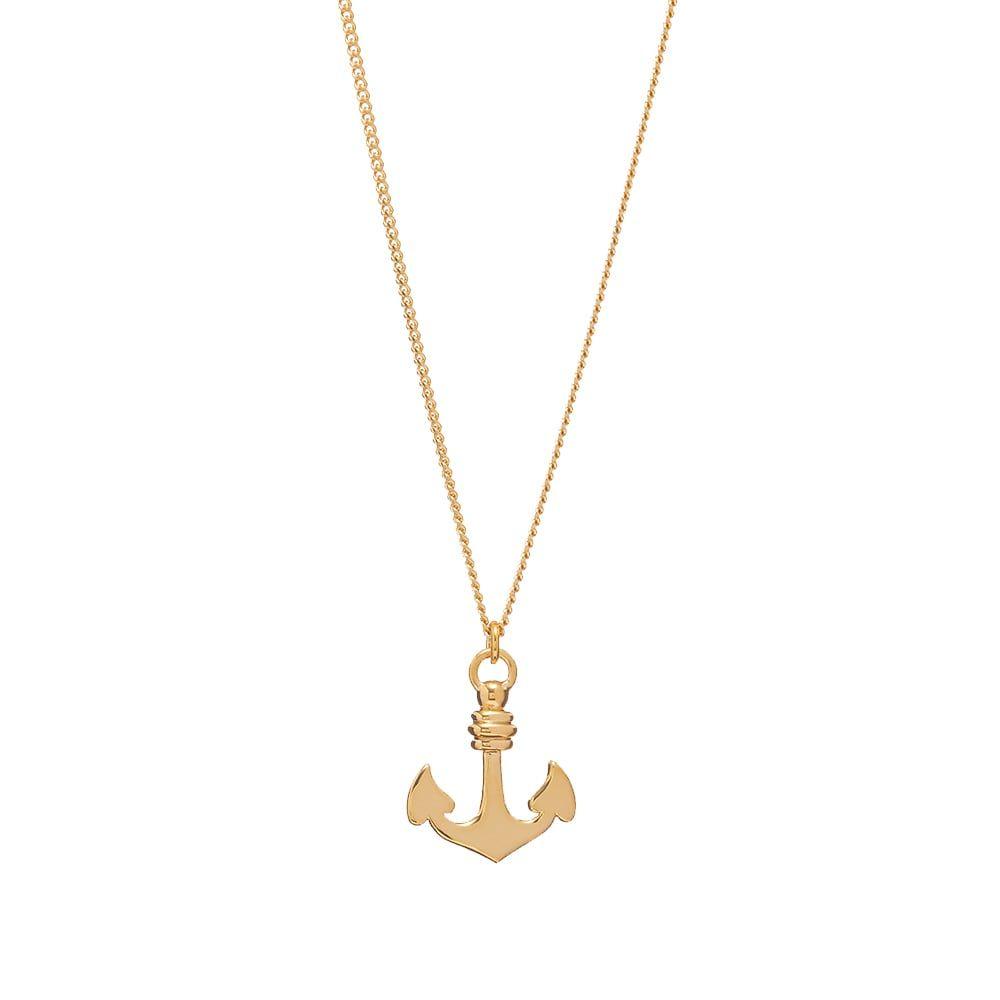 アーペーセー A.P.C. メンズ ネックレス ジュエリー・アクセサリー【Marine Anchor Necklace】Gold