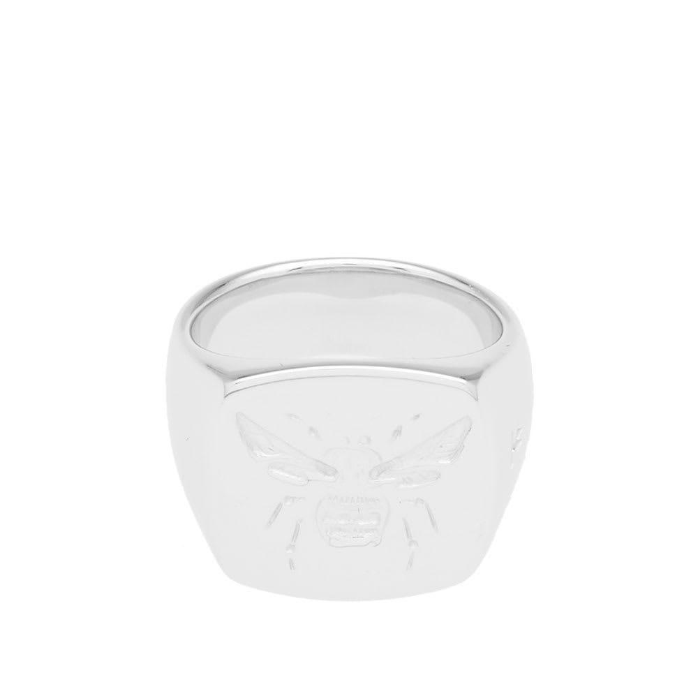 トムウッド メンズ ジュエリー・アクセサリー 指輪・リング Silver 【サイズ交換無料】 トムウッド Tom Wood メンズ 指輪・リング ジュエリー・アクセサリー【Bumble Bee Signet Ring】Silver