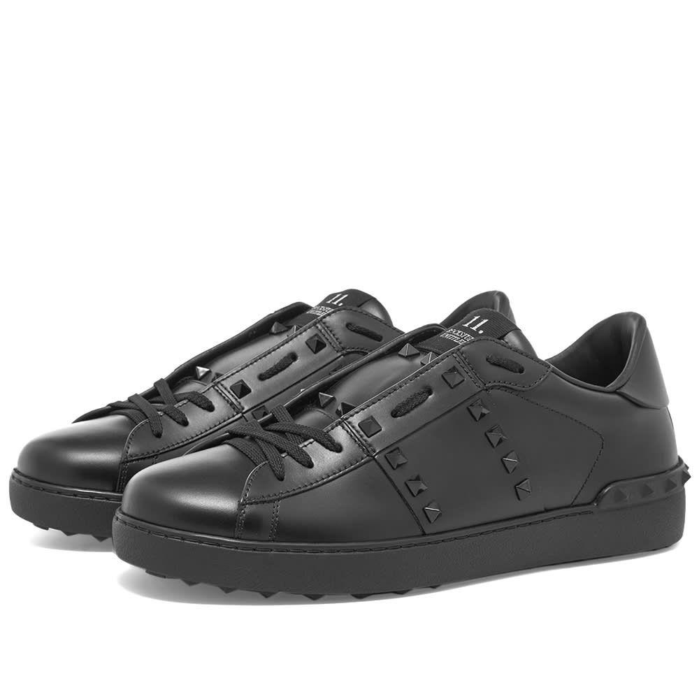 ヴァレンティノ Valentino メンズ スニーカー ローカット シューズ・靴【Rockstud Untitled Low Top】Black/Black