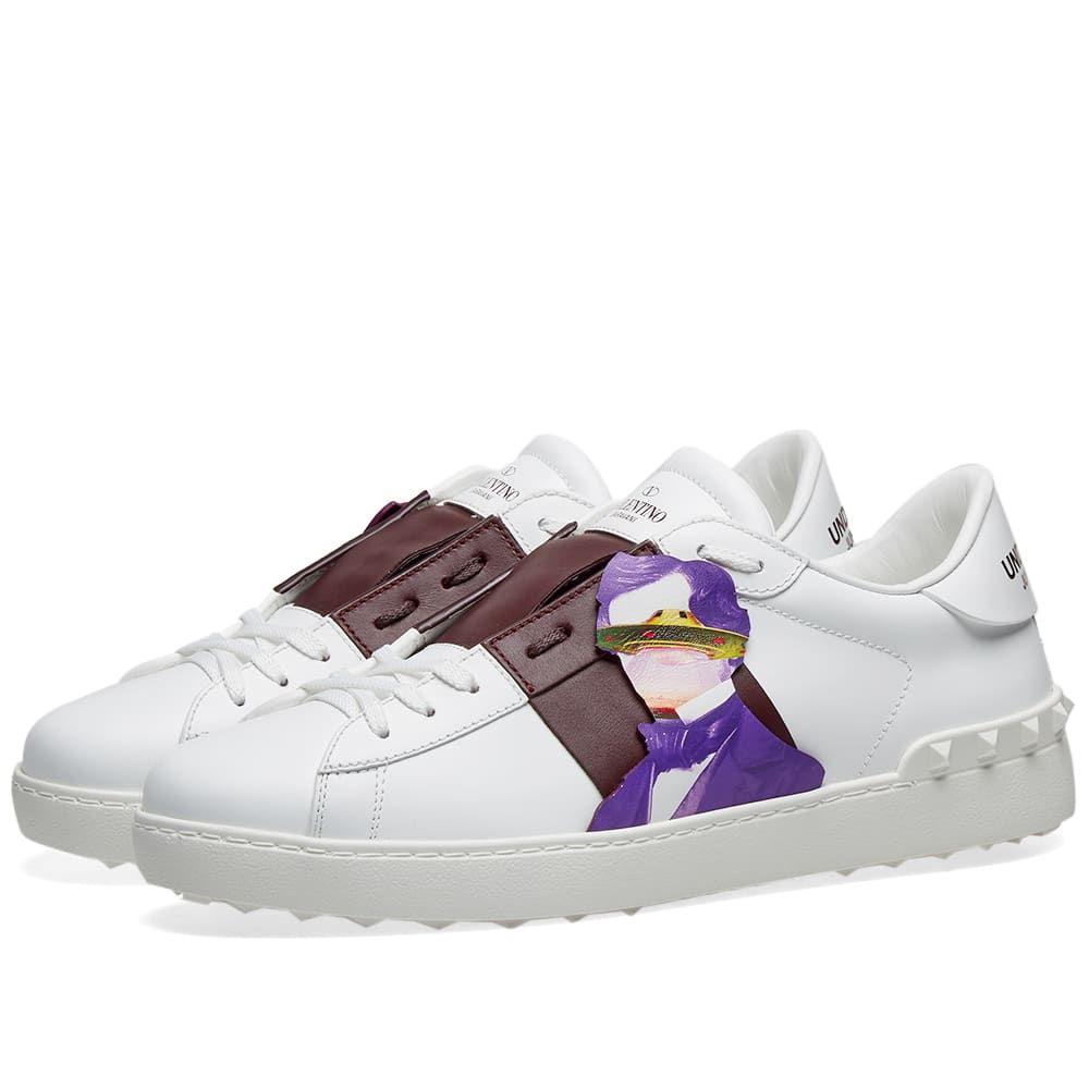 ヴァレンティノ Valentino メンズ スニーカー ローカット シューズ・靴【x Undercover Open Low Sneaker】White/Purple/Multi
