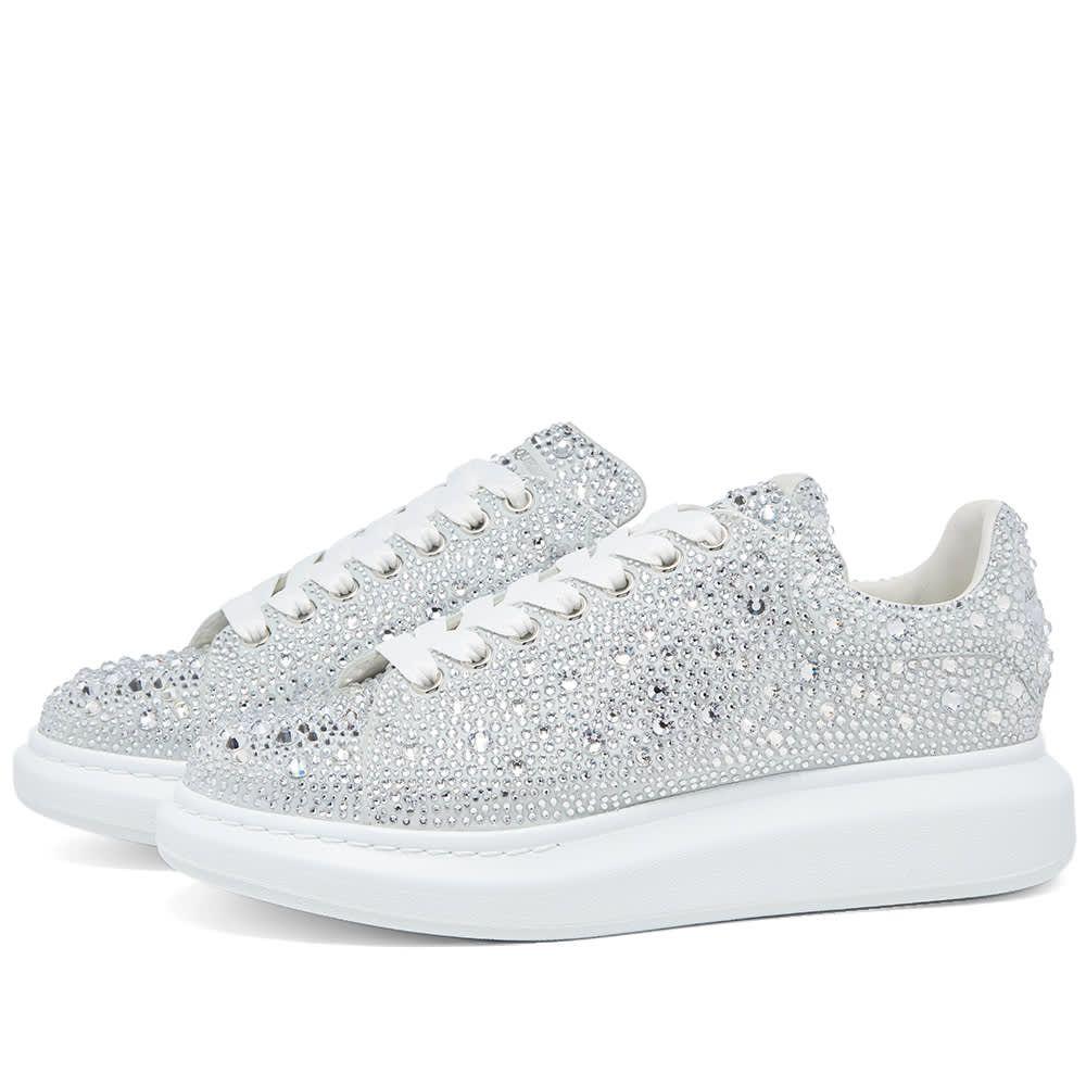 アレキサンダー マックイーン Alexander McQueen メンズ スニーカー ウェッジソール シューズ・靴【Crystal Wedge Sole Sneaker】White/Crystal