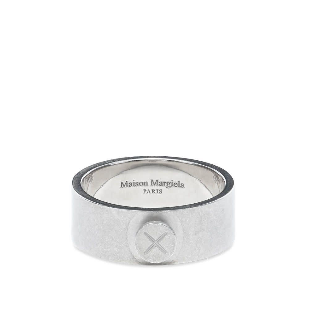 メゾン マルジェラ Maison Margiela メンズ 指輪・リング ジュエリー・アクセサリー【11 Screw Band Ring】Silver