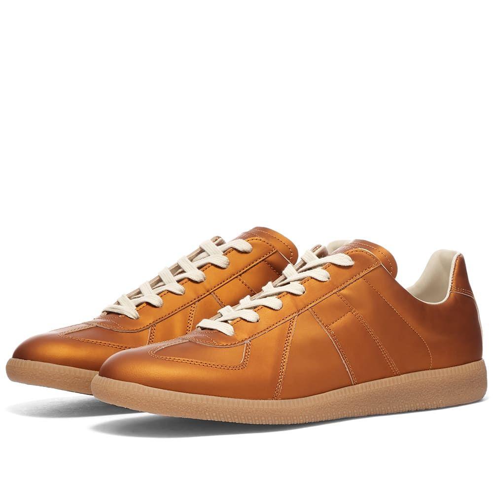 メゾン マルジェラ Maison Margiela メンズ スニーカー ローカット シューズ・靴【22 Metallic Replica Low Sneaker】Amber Brown