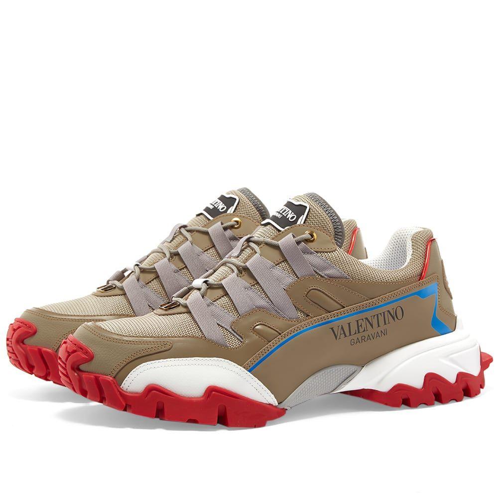 ヴァレンティノ Valentino メンズ スニーカー シューズ・靴【Climber Sneaker】Taupe/White/Red Sole