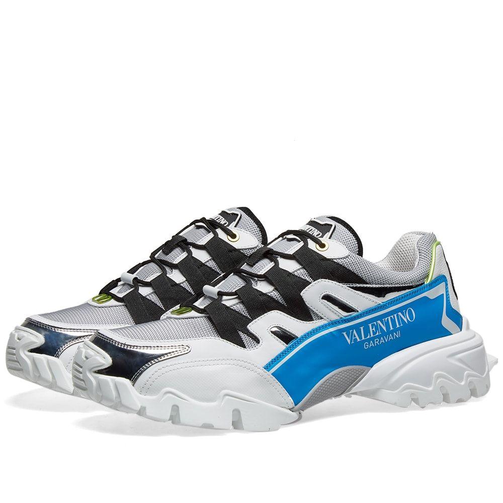 ヴァレンティノ Valentino メンズ スニーカー シューズ・靴【Climber Sneaker】White/Silver/Blue