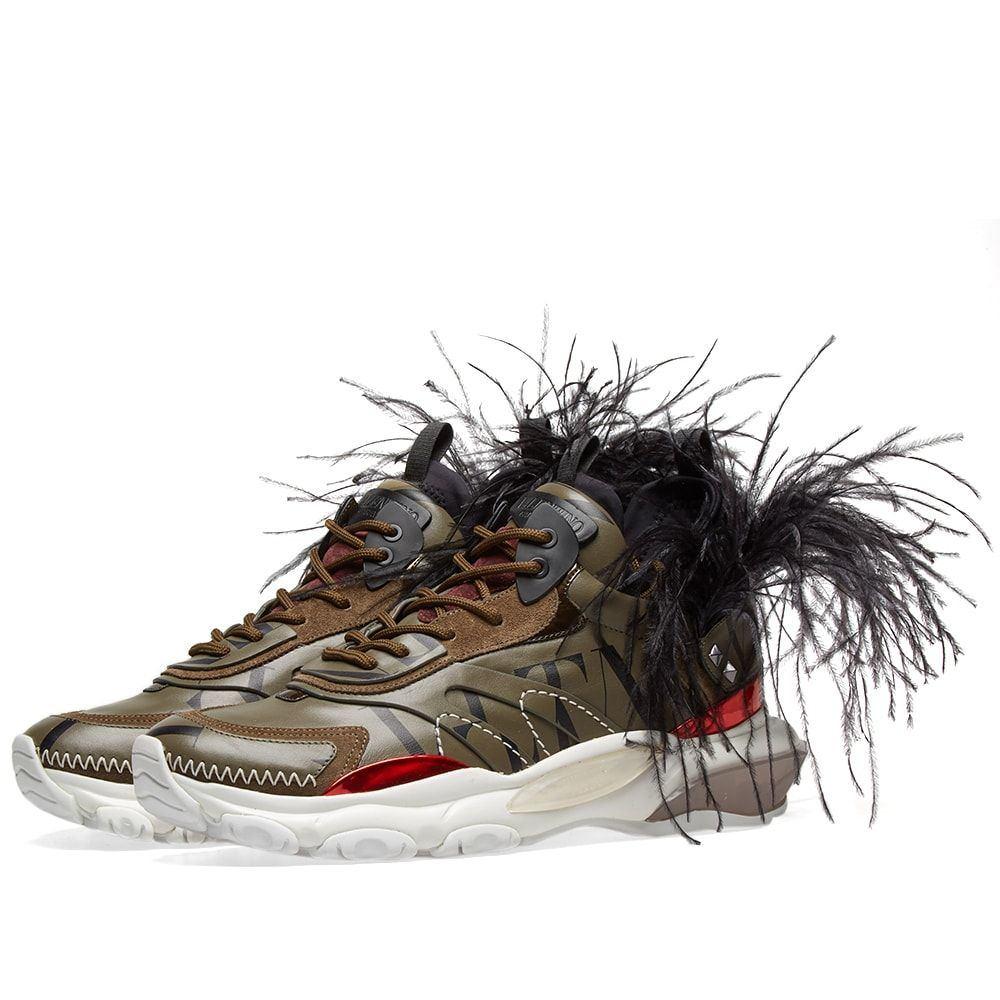 ヴァレンティノ Valentino メンズ スニーカー シューズ・靴【Feather Show Sneaker】Camo