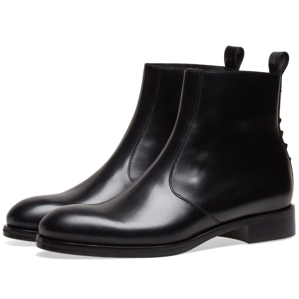 ヴァレンティノ Valentino メンズ ブーツ チェルシーブーツ シューズ・靴【Rockstud Heel Zip Chelsea Boot】Black