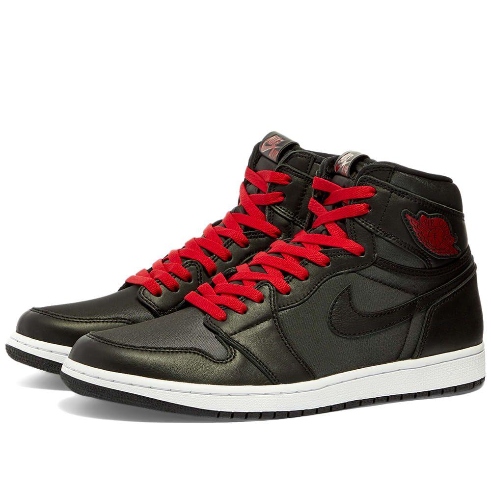 ナイキ ジョーダン Nike Jordan メンズ スニーカー シューズ・靴【Air Jordan 1 Retro High】Black/Gym Red/White