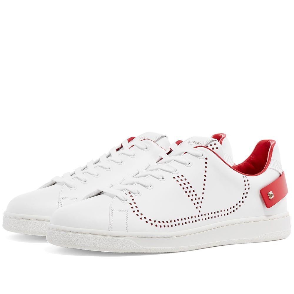 ヴァレンティノ Valentino メンズ スニーカー シューズ・靴【Net Go Logo Sneaker】White/Red