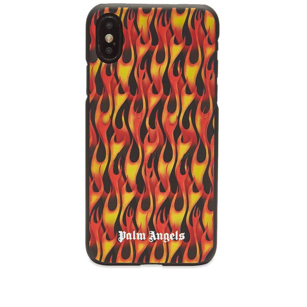 パーム 格安激安 エンジェルス メンズ 公式サイト スマートフォン タブレットケース iPhone X ケース Burning サイズ交換無料 Orange Angels Palm Case Black