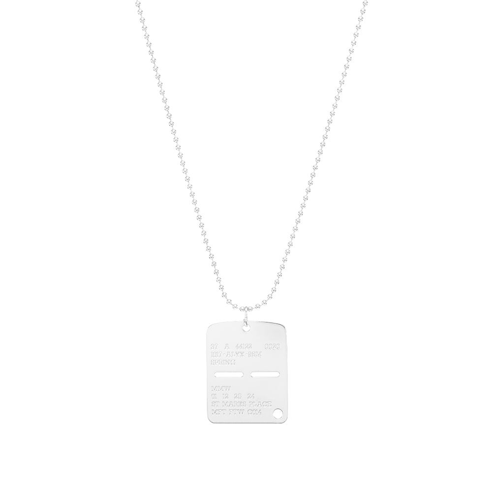 アリクス 1017 ALYX 9SM メンズ ネックレス ジュエリー・アクセサリー【Military Tag】Silver
