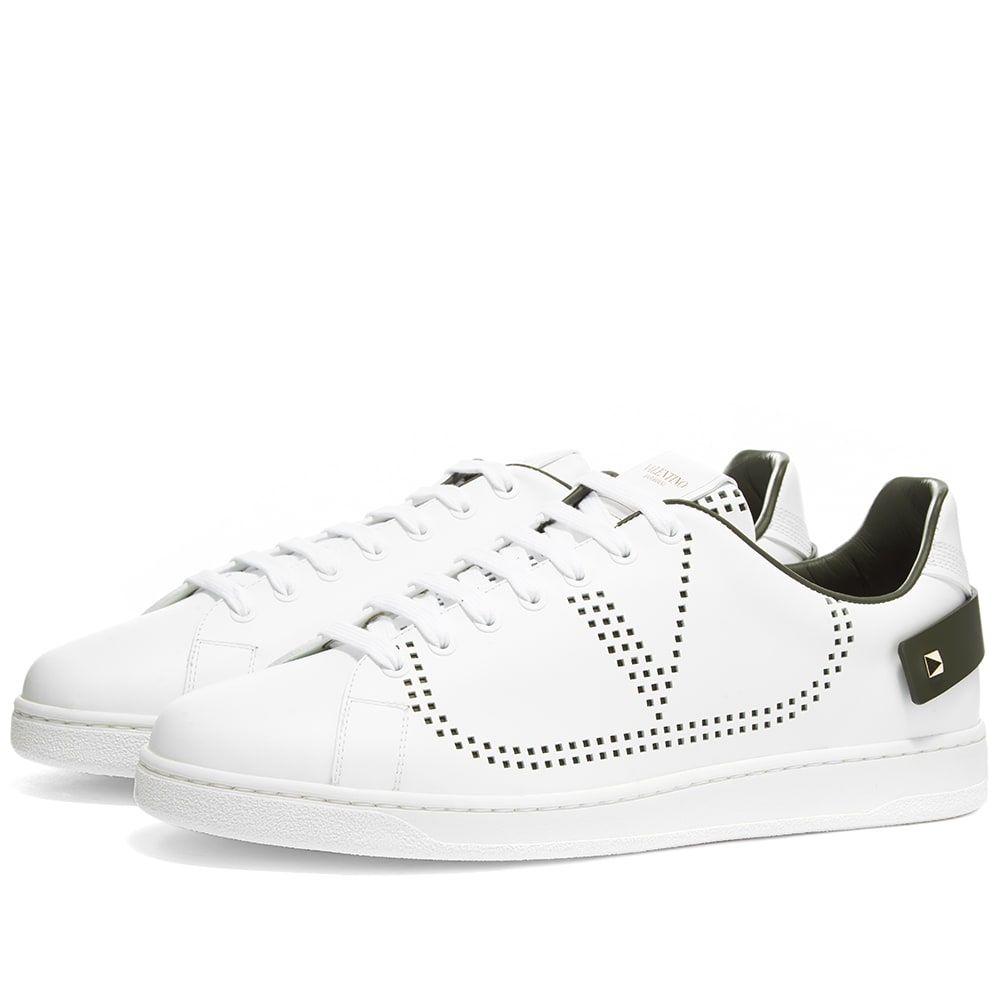 ヴァレンティノ Valentino メンズ スニーカー シューズ・靴【Net Go Logo Sneaker】White/Olive