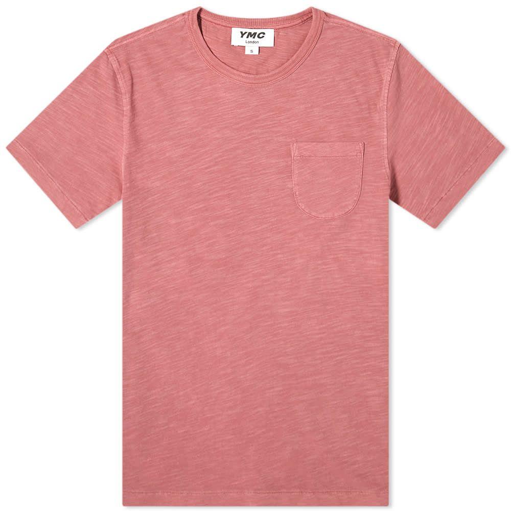 ワイエムシー YMC メンズ Tシャツ ポケット トップス【Wild Ones Pocket Tee】Pink