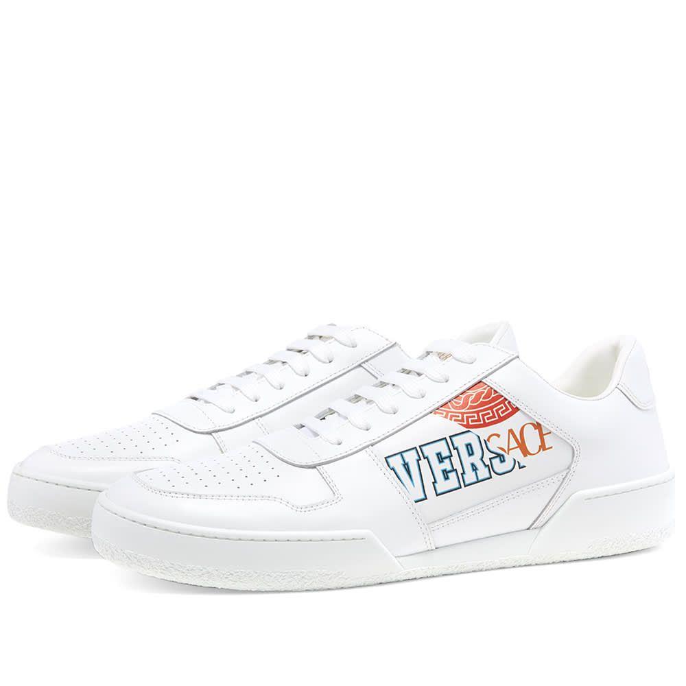 ヴェルサーチ Versace メンズ テニス スニーカー シューズ・靴【Split Tennis Sneaker】White/Multi