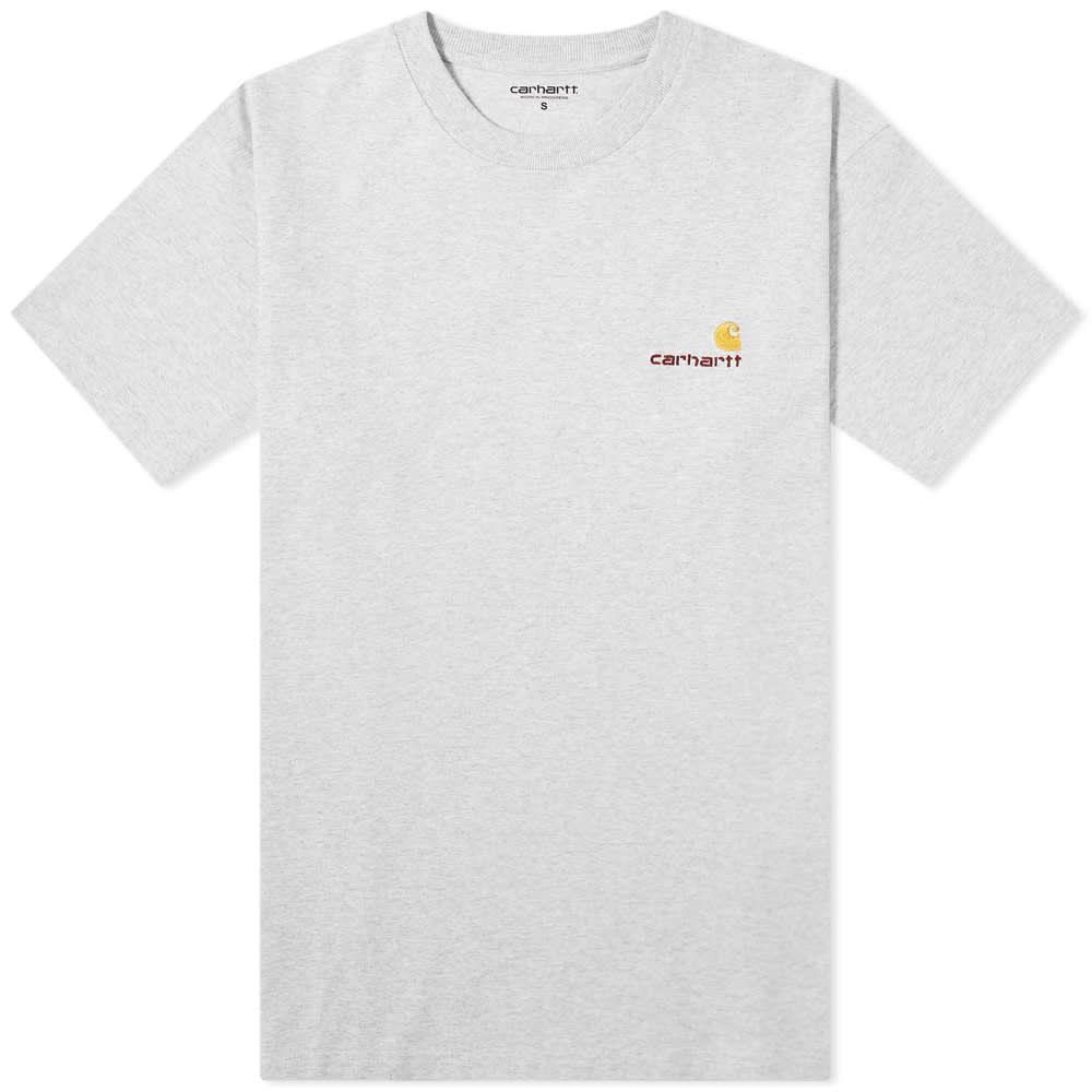 カーハート Carhartt WIP メンズ Tシャツ トップス【American Script Tee】Ash Heather