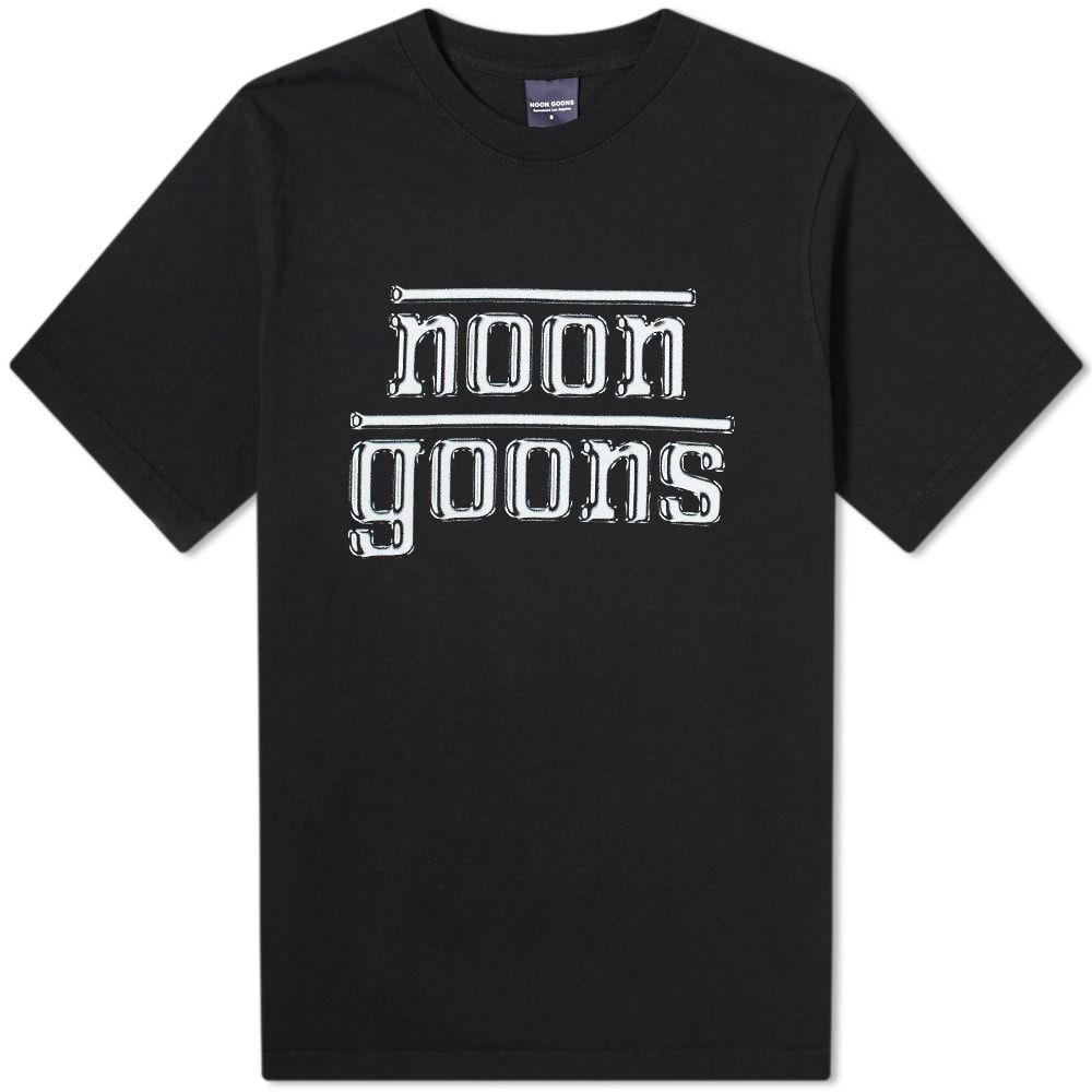 ヌーン グーンズ 受賞店 メンズ トップス Tシャツ Black サイズ交換無料 Tee 爆買いセール Noon Goons Chrome