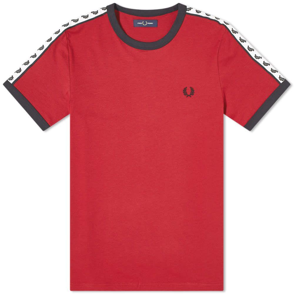 フレッドペリー Fred Perry Authentic メンズ Tシャツ トップス【Taped Ringer Tee】Rosso