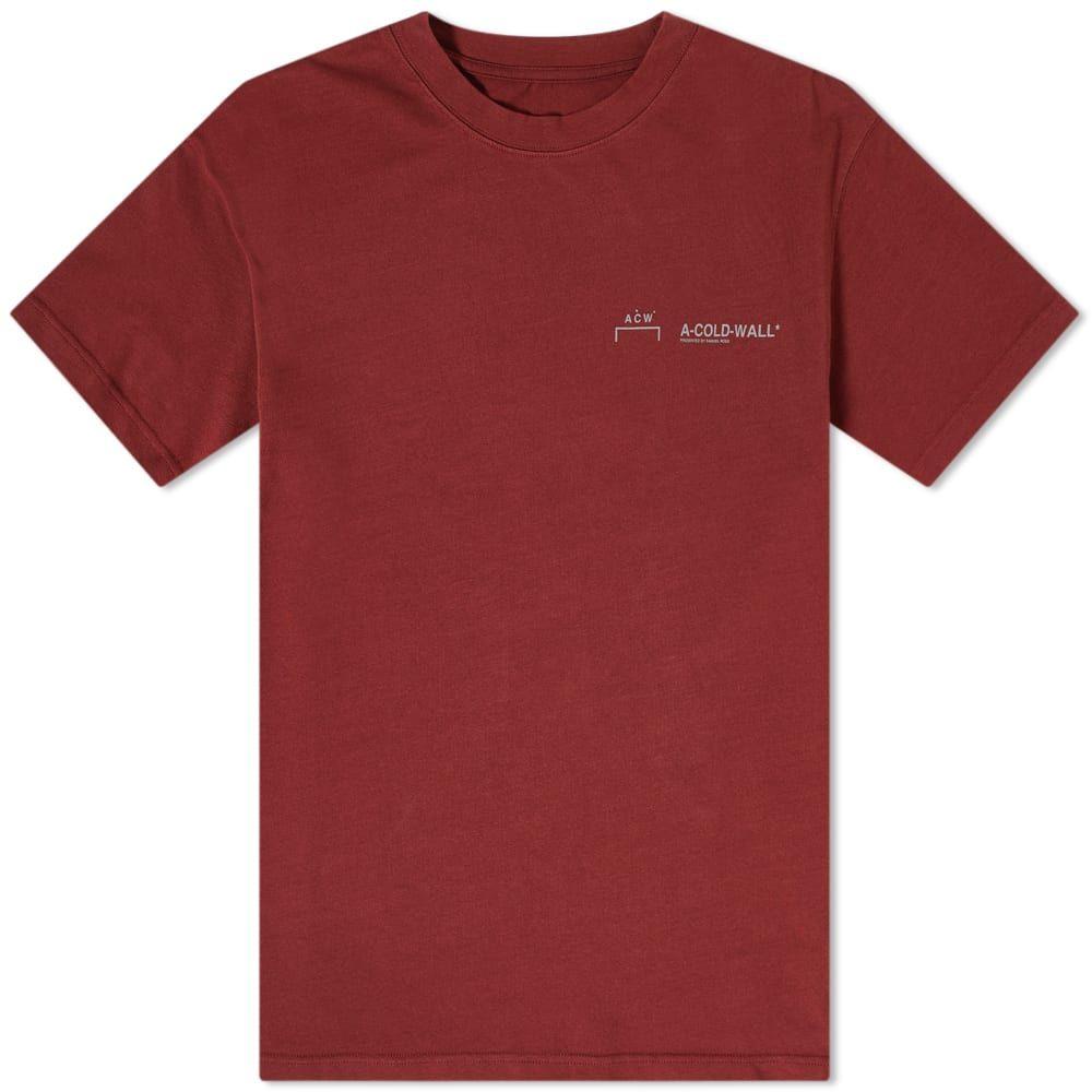 アコールドウォール A-COLD-WALL* メンズ Tシャツ ロゴTシャツ トップス【Logo Tee】Chocolate Truffle