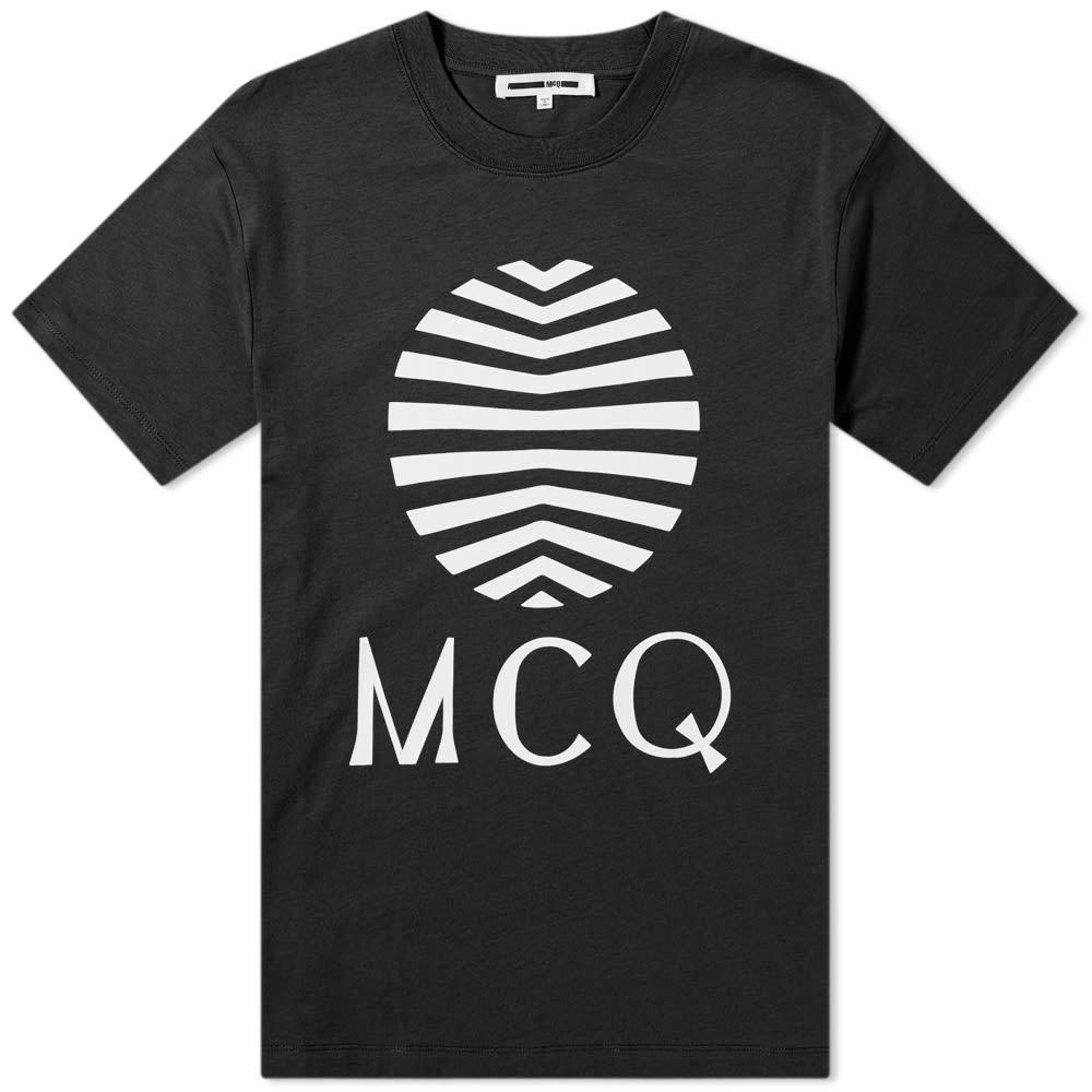 アレキサンダー マックイーン McQ Alexander McQueen メンズ Tシャツ ロゴTシャツ トップス【Sun Logo Tee】Darkest Black