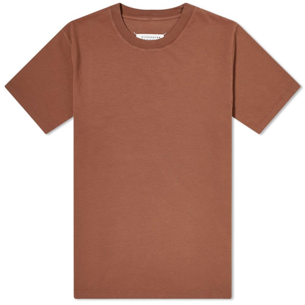 メゾン マルジェラ Maison Margiela メンズ Tシャツ トップス【10 Classic Stitch Tee】Chocolate