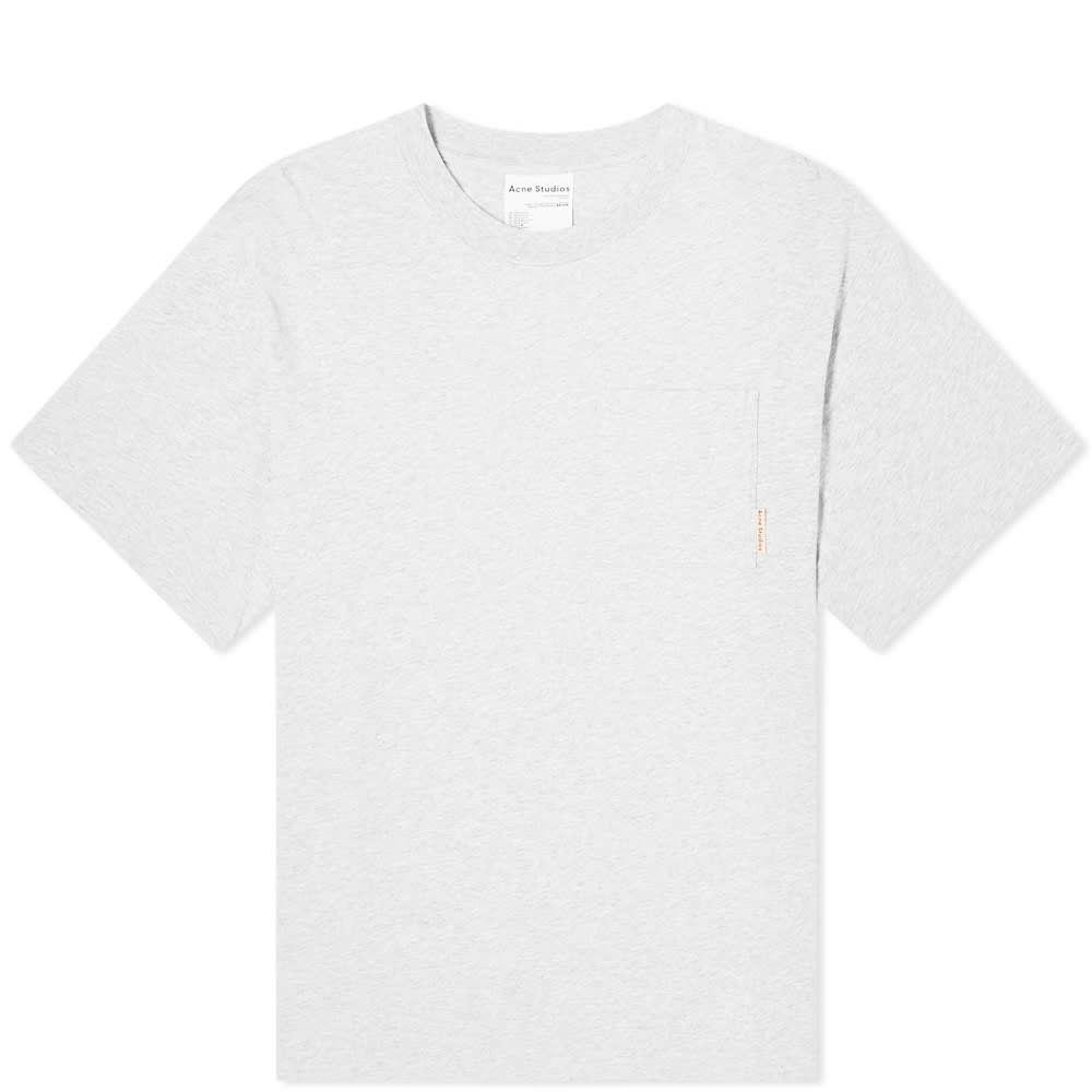 アクネ ストゥディオズ Acne Studios メンズ Tシャツ ポケット トップス【Extorr Pink Label Pocket Tee】Pale Grey Melange